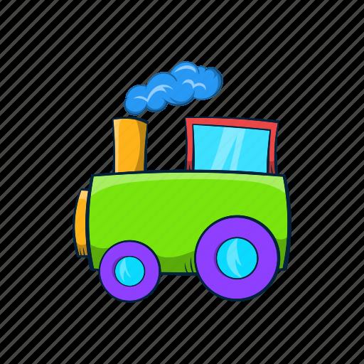 amusement, cartoon, kid, locomotive, park, toy, train icon