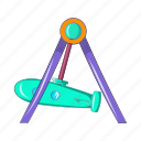 amusement, carnival, cartoon, fun, park, rocket, swing icon