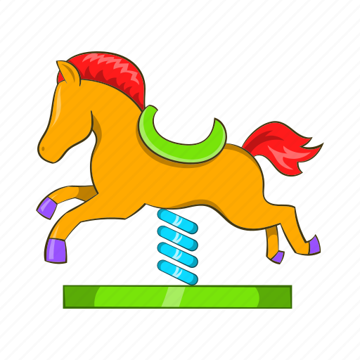 cartoon, child, childhood, colorful, horse, playground, toy icon