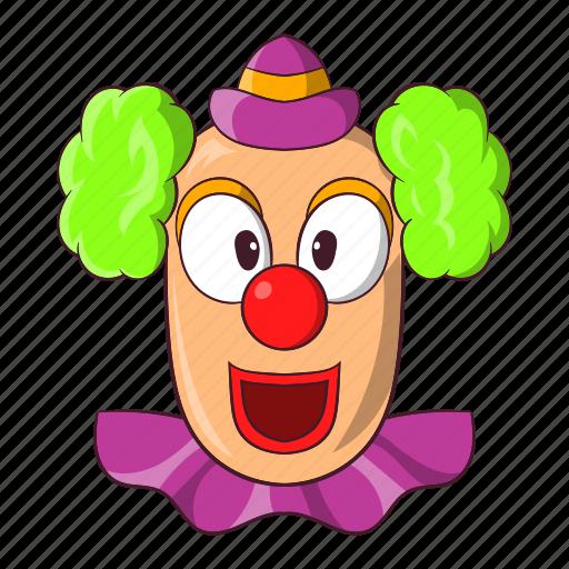 carnival, cartoon, circus, clown, face, happy, smile icon