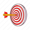 arrow, cartoon, dart, dartboard, goal, success, target icon