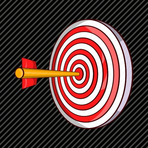 arrow, cartoon, dart, dartboard, goal, success, target icon