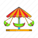 amusement, boat, carnival, carousel, cartoon, park, round icon