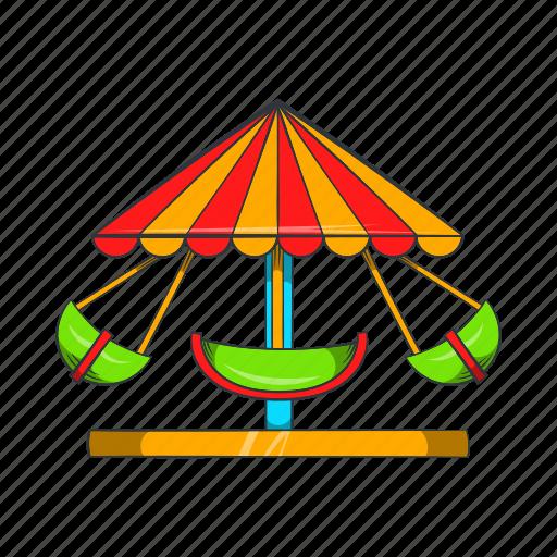 amusement, boat, carnival, carousel, cartoon, park, round icon