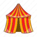 amusement, arena, cartoon, circus, festival, show, tent icon