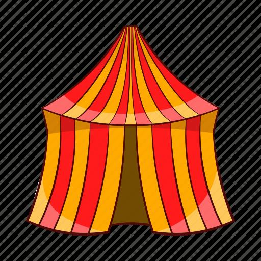 amusement, arena, cartoon, circus, festival, show, tent icon