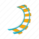 amusement, cartoon, joy, loop, ride, rollercoaster, speed icon
