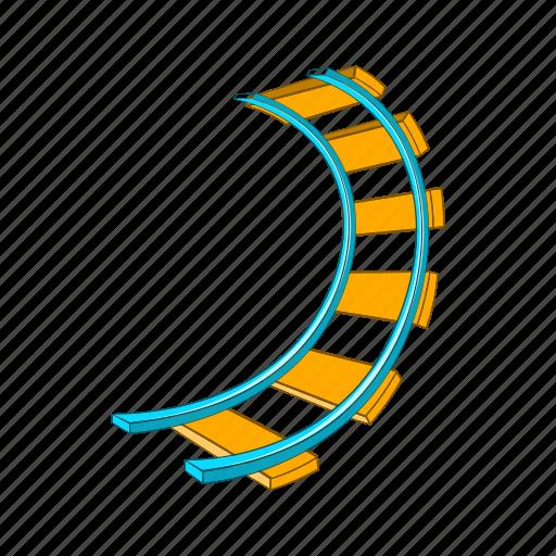 amusement, cartoon, joy, loop, ride, rollercoaster, speed icon