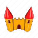 amusement, cartoon, castle, circus, fantasy, fun, park icon