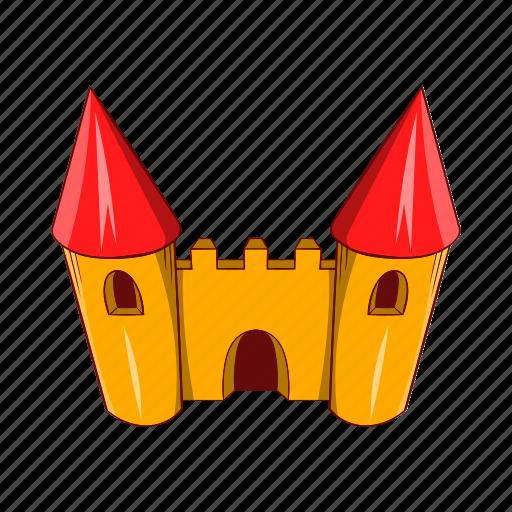 amusement, cartoon, castle, circus, fantasy, fun, park icon