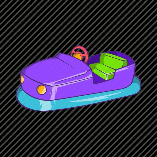 amusement, car, cartoon, electric, entertainment, fun, park icon