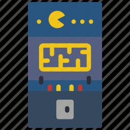 amusements, arcade, fair, fun, game, machine, pacman icon
