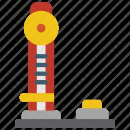 amusements, fair, fun, game, sledge, strength, test icon