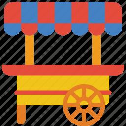 amusements, cart, fair, fun, stall, sweet icon