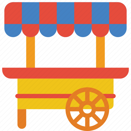 Amusements, cart, fair, fun, stall, sweet icon - Download on Iconfinder
