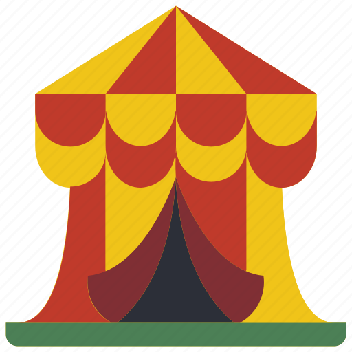 amusements, circus, fair, fun, show, tent icon