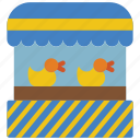 amusements, duck, fair, fun, game, hook, shoot icon