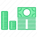 cash, income, investments, money icon