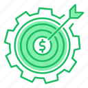 goal, making, money, target icon