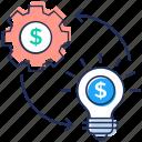 idea management, innovative idea, innovative process, management process icon