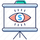 business monitoring, business vision, cyber eye, finance monitoring, monitoring icon