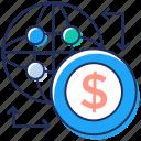 global money conversion, global money transfer, international money, money transfer, worldwide money icon