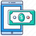 digital money, mobile banking, mobile transection, online money, payment transfer icon