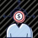 company director, financial investor, innovative investor, investor, stakeholder icon