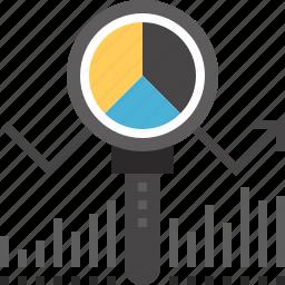 analysis, analytics, chart, data, graph, search, statistics icon