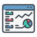 analytics, chart, graph, statistics, stats, web, website icon