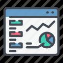 analytics, chart, graph, statistics, stats, web, website icon