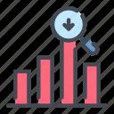 analytics, chart, graph, negative, search, statistics, stats