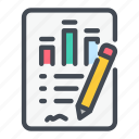 analytics, chart, docs, graph, pen, statistics, stats