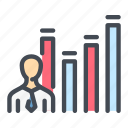 analytics, chart, graph, person, profile, statistics, stats