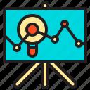 analytics, board, data, diagram, graph, static, zoom icon