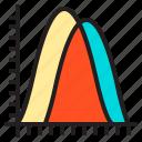 analytics, chart, curve, diagram, graph, static icon