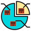 analytics, diagram, graph, pie, static icon