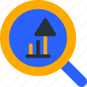 analytic, graph, grow, stat, zoom icon