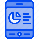analytic, circle, smartphone, stat, statistic icon