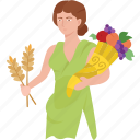 agriculture, ancient, ceres, demeter, fertility, goddess, harvest