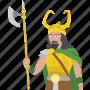 barbarian, god, loki, lord, norse, viking, warrior