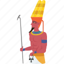 amun, ancient, civilization, egypt, egyptian, god, pharaoh icon