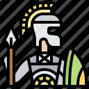 battle, roman, soldier, spartan, warrior