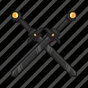 ancient, crossed, melee, swords, weapon