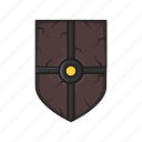 ancient, melee, shield, weapon icon