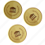 ancient, coins, gold, money, rome icon