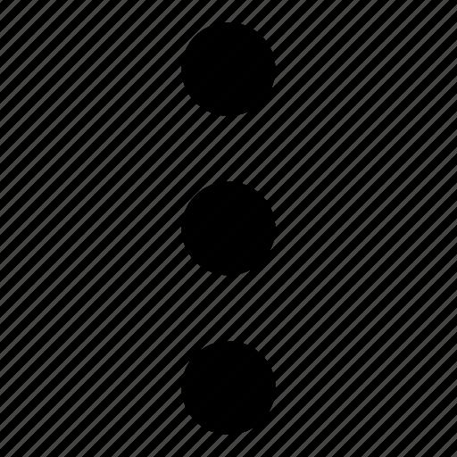 choice, dots, menu, option, options, preferences, three icon