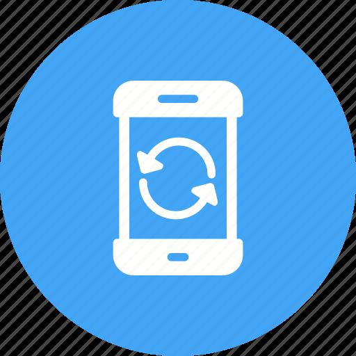 mobile, mode, phone, power, reset, restart, smartphone icon