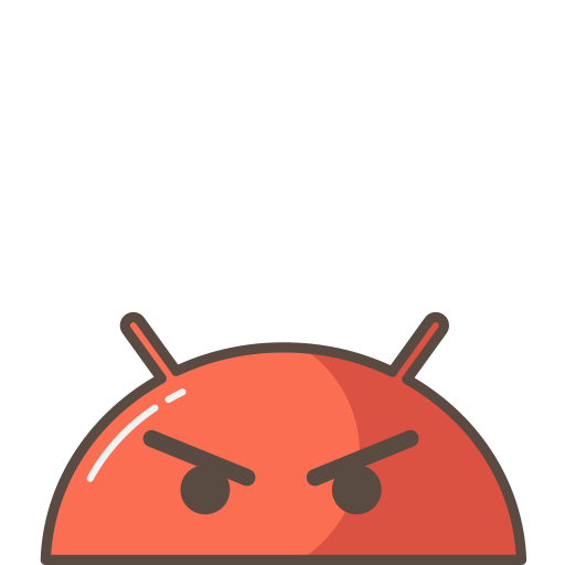 android, angry, emoji, mobile, mood, robot, upset icon