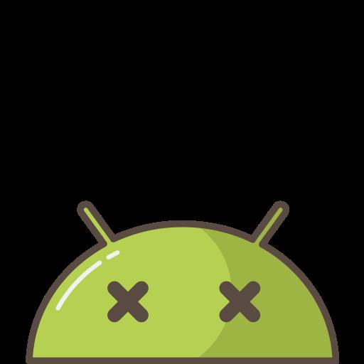 android, bug, crash, dead, emoji, mobile, mood icon